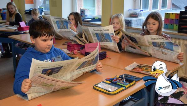 Zeitungsflirt mit Dithschi Duck