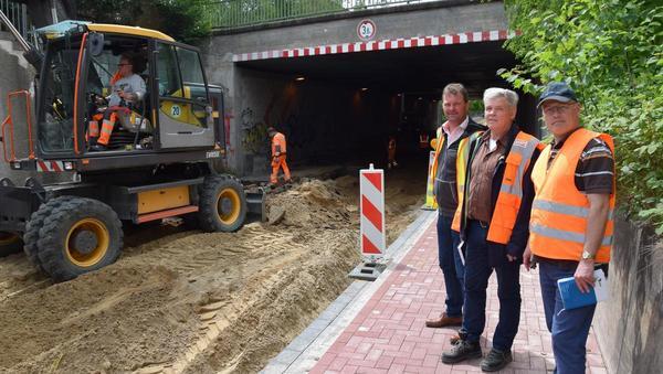 Sanierung der Kreuzstraße geht in den Endspurt