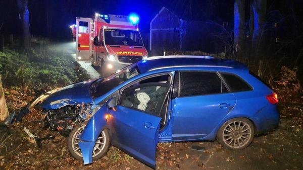 Baum auf Straße: Zwei Verletzte bei Gudendorf