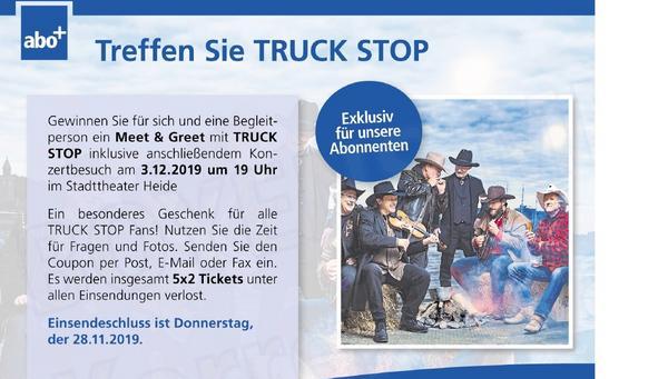 Meet&Greet mit TRUCK STOP gewinnen - abgelaufen