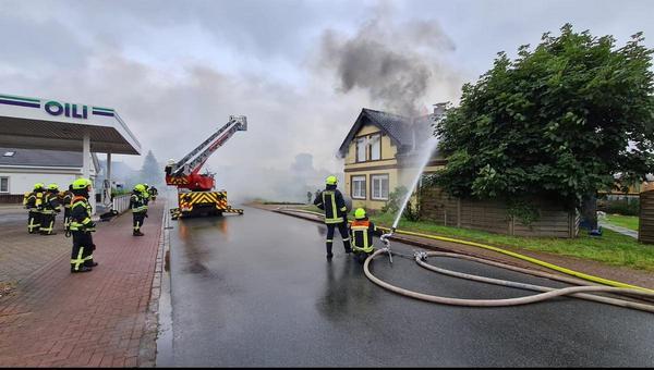 Dachstuhlbrand in Eddelak