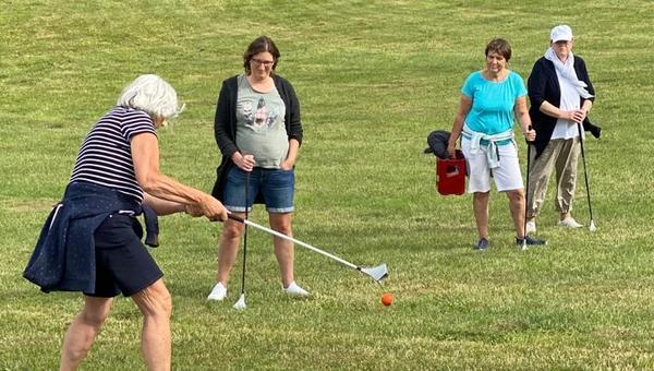 Wenn der Golfball swingt