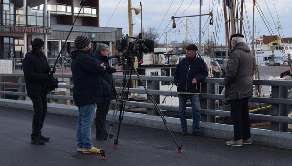 Interview am Hafen