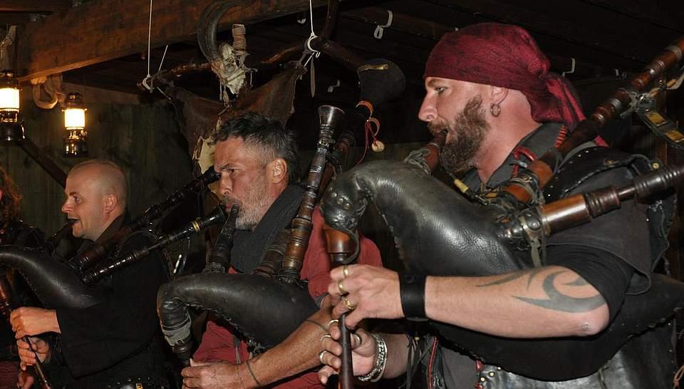 Mittelalterliche Musikanten. Foto: Höfer