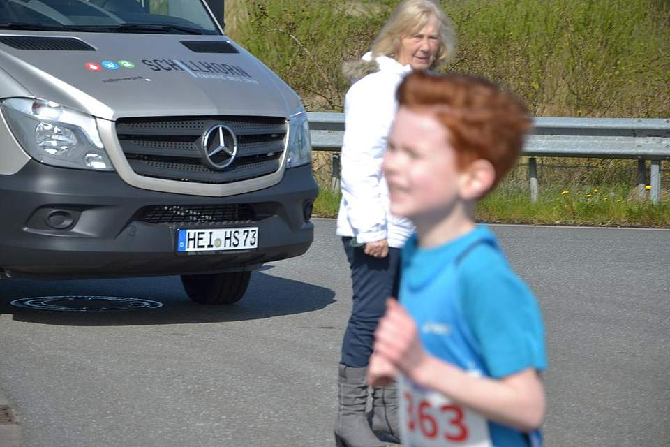 Läufer auf der Strecke.