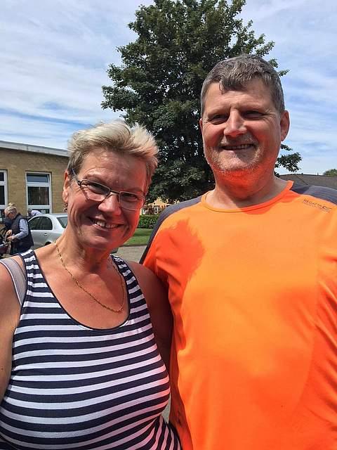 Inge Saltin und Ralf Gieselmann fuhren 25 Kilometer.