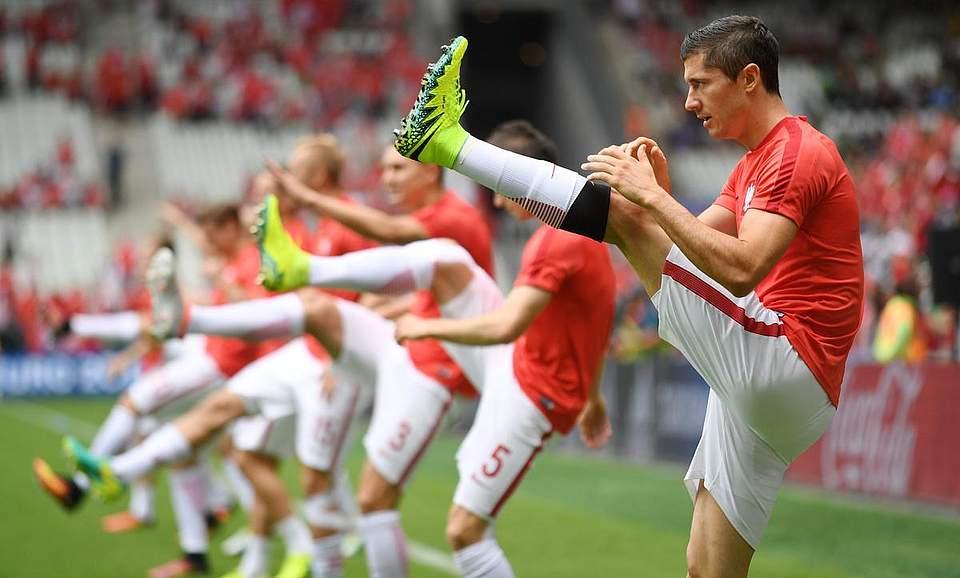 Die polnische Mannschaft bereitet sich auf das Achtelfinale gegen die Schweit vor. Foto: Zborowski