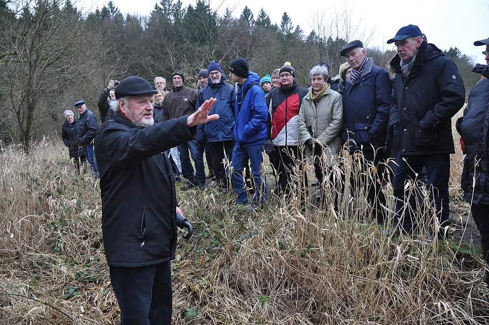 Auf den Spuren der Schwarzen Garde mit Boyens Medien unter der Leitung von Wolfgang Mohr. Foto: Höfer