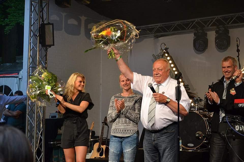 Gefeiert: Julia Lindholm und Wolfgang Biller.