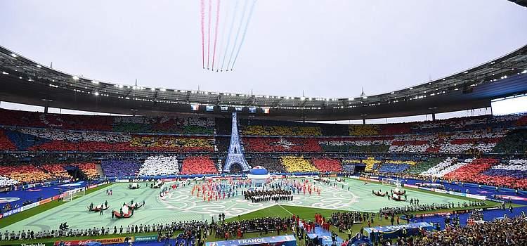 Die Eröffnungsfeier in Paris. Foto: Becker