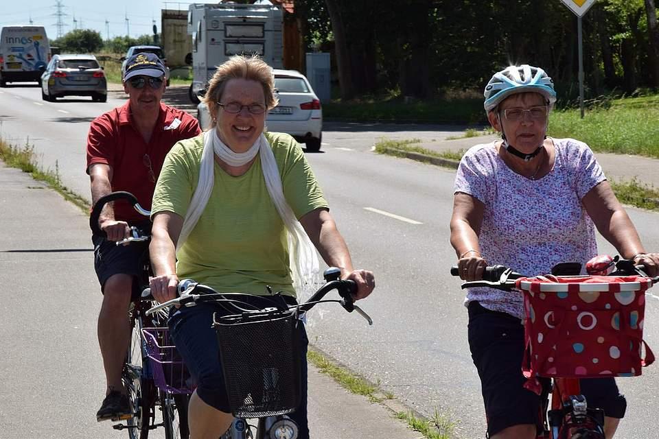 Mit guter Laune waren die Zweiradfreunde bei der Boyens Medien Radtour unterwegs.