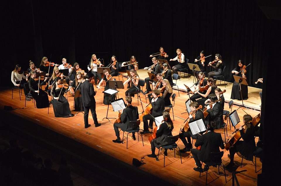 Die Baltische JuniorPhonie umfasst 40 jugendliche Musiker aus sieben Ostsee-Staaten.