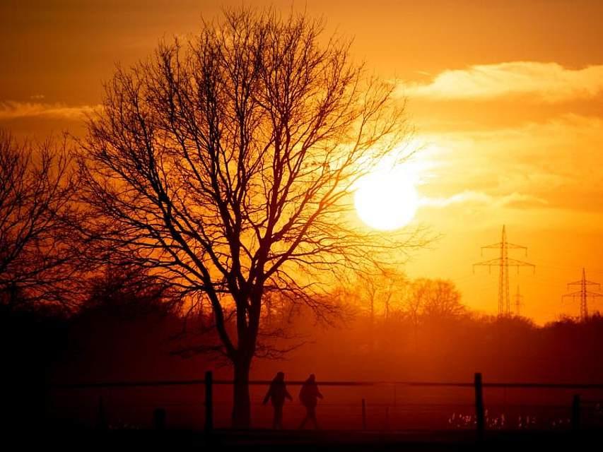 Frische Luft schnappen bei einem Spaziergang in den Abendstunden. Foto: Hauke-Christian Dittrich/dpa