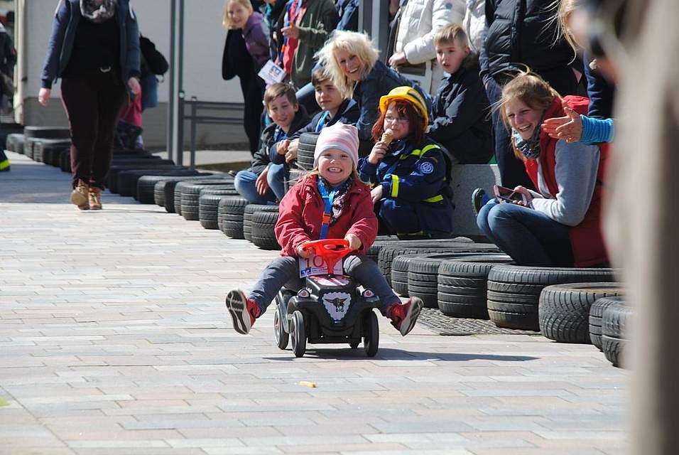 Hatten Spaß beim Bobbycar-Rennen