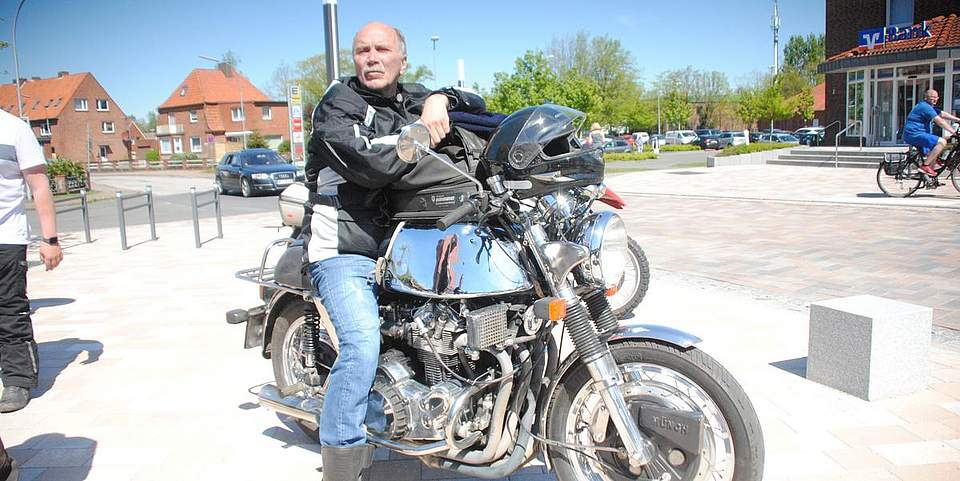 Eine Rarität: Ein Motorrad der Marke Münch. Von diesem wurden nur 480 Exemplare gebaut.