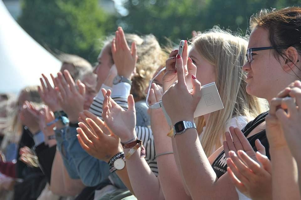 Die Popstars sorgten für Stimmung. Foto: Voß