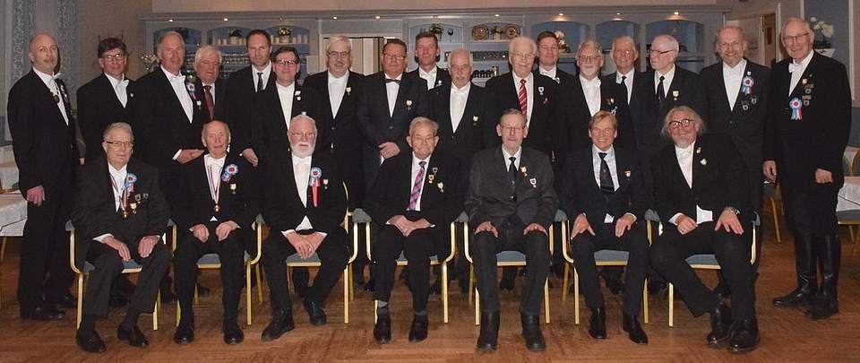 Groß ist die Schar der Geehrten: Zwei Mitglieder gehören der Österegge seit 60 Jahren an. Foto: Seehausen