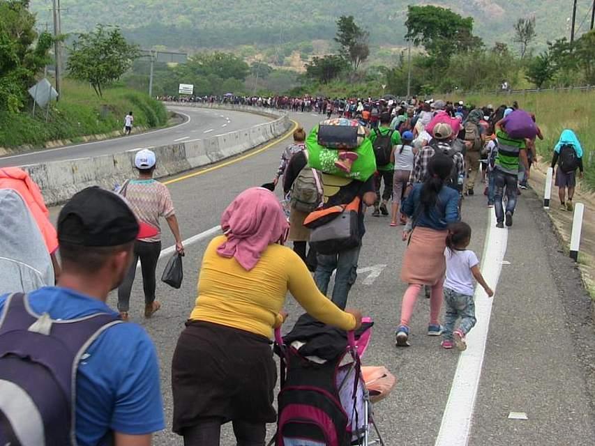 Huehuetán in Südmexiko: Migranten aus Mittelamerika setzen ihre Flucht aus der Heimat fort. Foto: El Universal/El Universal via ZUMA Wire