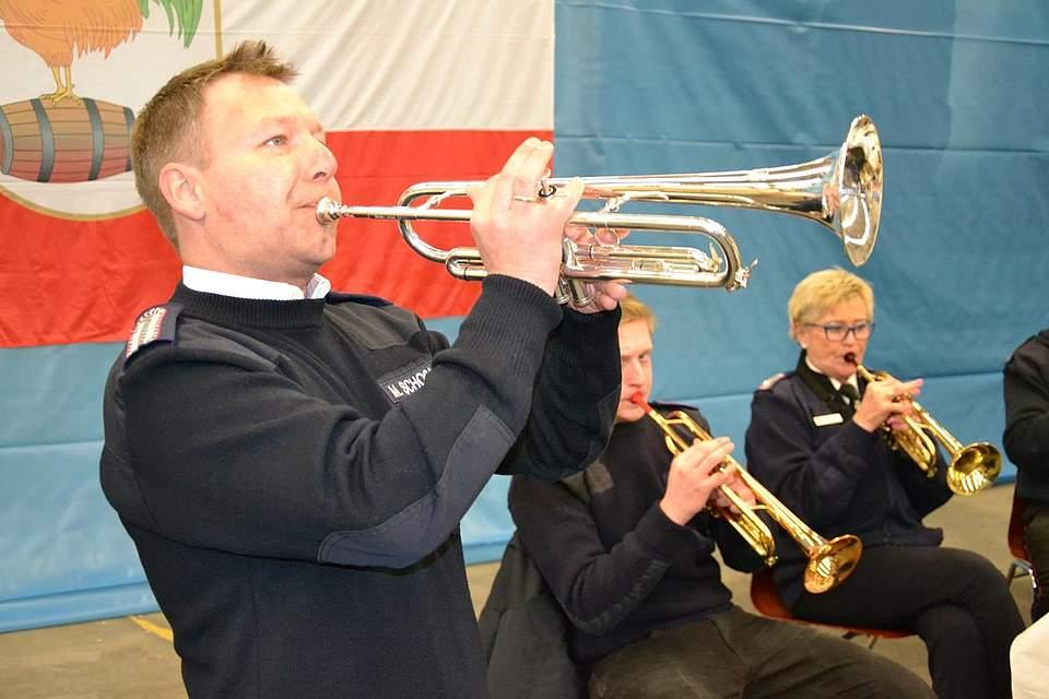 Erste Trompete: Matthias Schoßnick vom Lindener Feuerwehr-Musikzug.
