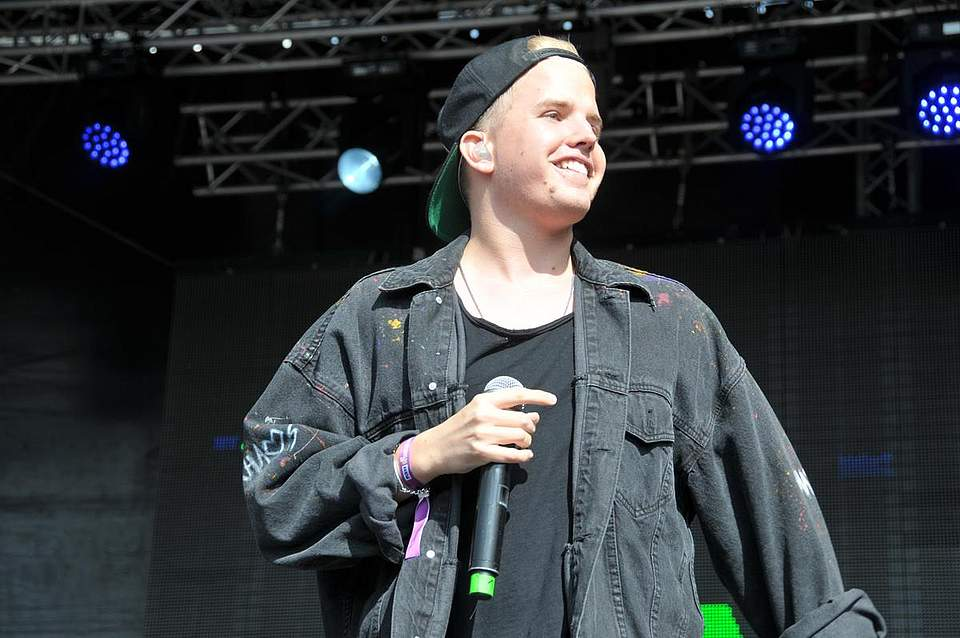 Rapper Kayef in Aktion. Foto: Voß