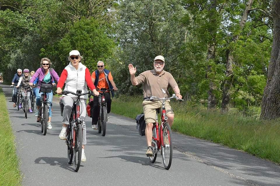 Gut gelaunt fuhren die Teilnehmer durch den nördlichen Teil Dithmarschens.