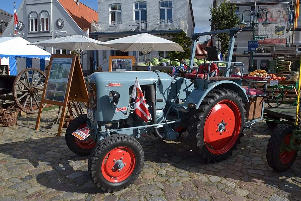 Alte Traktoren auf dem Meldorfer Kohlvergnügen.