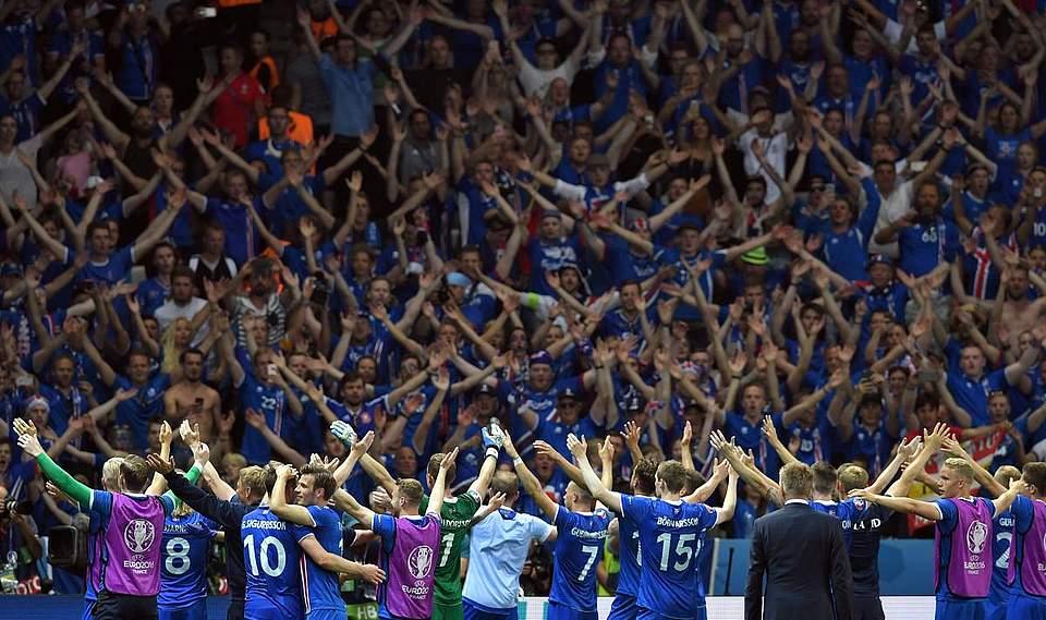 Die Fans der Isländer sind auch nach dem Turnier in Erinnerung geblieben.Foto: Powell