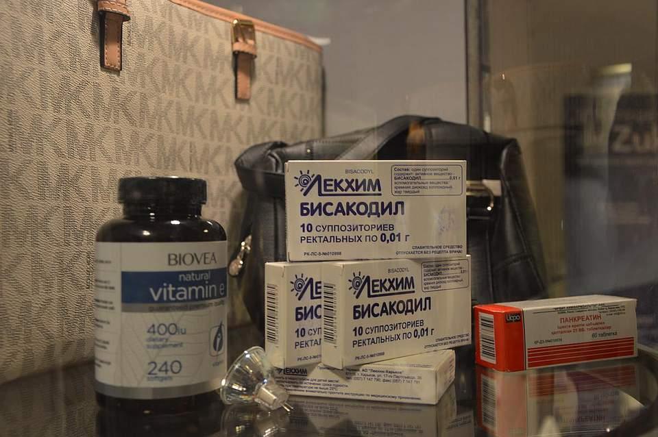 Der Zoll zeigte in einer kleinen Ausstellung, mit was sie es täglich zu tun haben, unter anderem mit gefälschten Medikamenten.